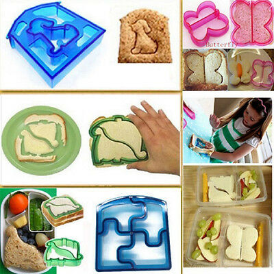 1PCS Cute Animal Sandwich Mold Cutter Elephant Dog Dinosaur Shape Cake Bread DIY