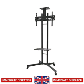"Mobile Monitor/TV Floor Cart Stand for 32-55"" LED screen"
