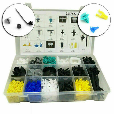 730X Car Body Plastic Push Pin Rivet Fasteners Trim Moulding Clip Assortments T3