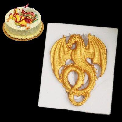 Dragon Silicone Fondant Mould Cake Decor Chocolate Sugarcraft Baking Mold Tool