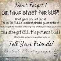 60$ photo shoots! Check out my add!
