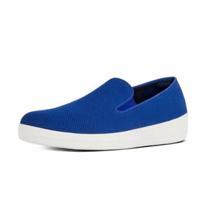 BRAND NEW Fitflops - Superskate Textile Loafers (mazarine blue)
