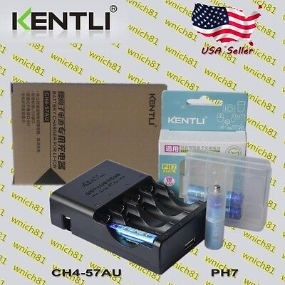 Used, KENTLI 1.5V POLYMER LITHIUM RECHARGEABLE AAA LiPo BATTERIES w/ CHARGER for sale  Shipping to India