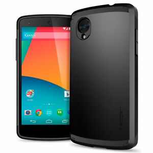 Nexus 5, 16GB, Black, Unlocked+ Spigen Bumper + Screen Protector