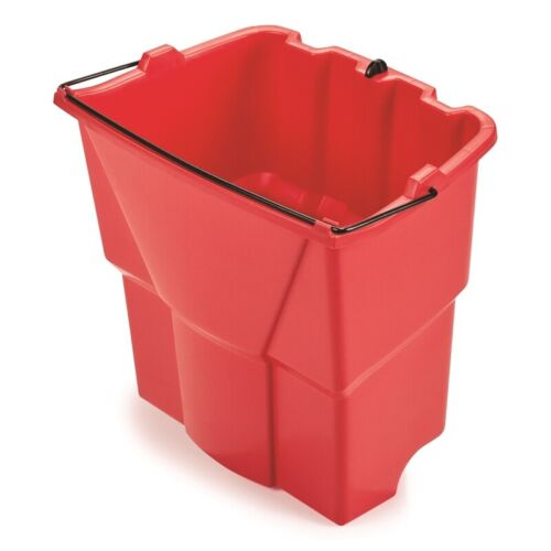 Rubbermaid Commercial WaveBrake 18 qt. Dirty Water Wringer Bucket Red - 2064907