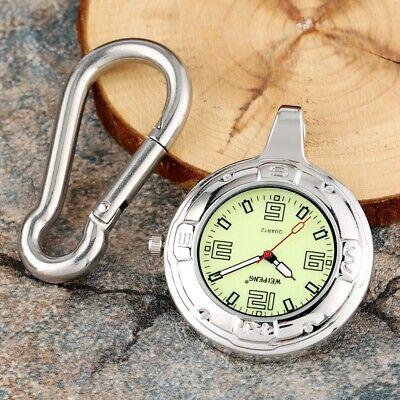 Vintage Silver Portable Quartz Open Face Pocket Watches Necklace Chain Luminous