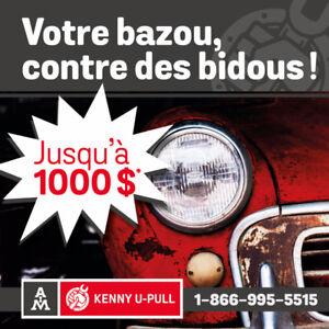 ACHAT D'AUTO   ARGENT COMPTANT   REMORQUAGE   KENNY U-PULL