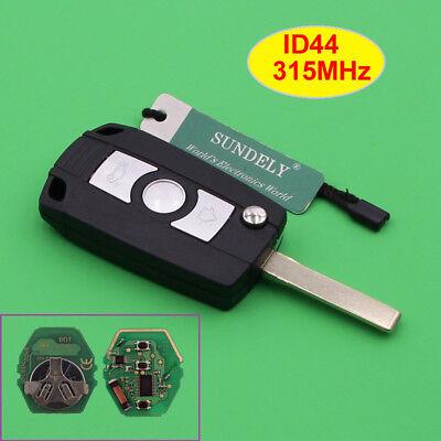 Folding Remote Key Fob 433/315MHz ID44 for BMW E81 E46 E39 E63 E38 Uncut HU92