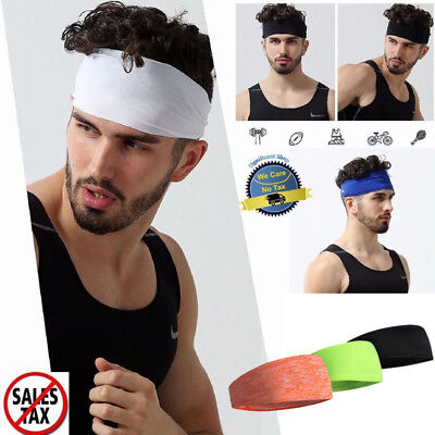 For sale Hair Head Band Sweatband Headband Stretch Mens Wrap Elastic Sports Men Thin Gym