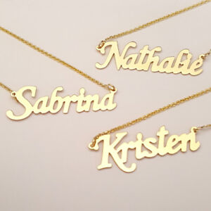 Name plate necklace and bracelet