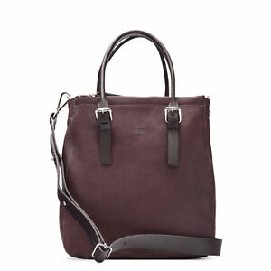 M0851 - Vertical Muti-Section Tote - in Brown