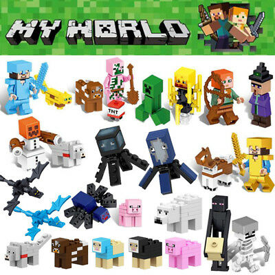 26Pcs Minecraft My World Series Mini Figures Characters Building Blocks Fit Lego