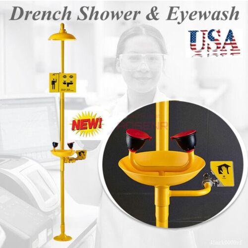 Combination Emergency Eye Wash Eyewash Station ABS Stainless Steel &Carbon Steel