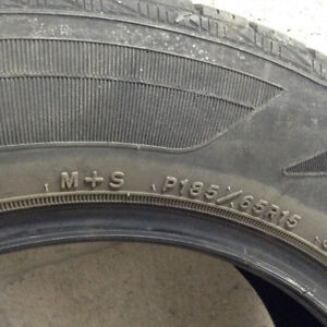 Set of 4 Goodyear p185/65R15 tires (no rims)
