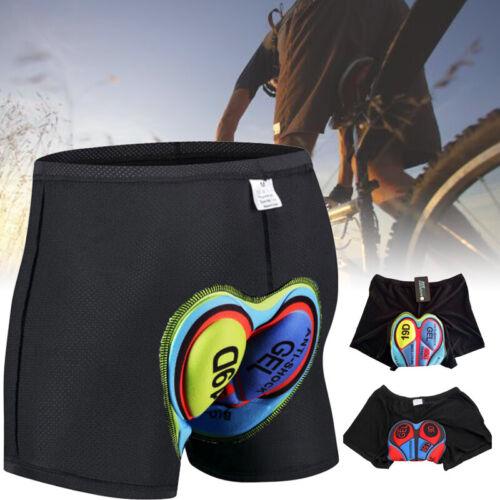 Herren 3D Gepolstert Fahrrad Radlerhose Unterwäsche Unterhose Sport Sitzpolster