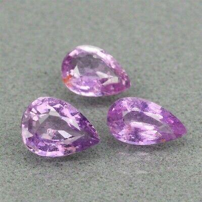 1.32 ct Lot.3uni.Zafiros Naturales Rosa Púrpura Sin Tratar SI1 Origen Madagascar, usado segunda mano  Embacar hacia Argentina