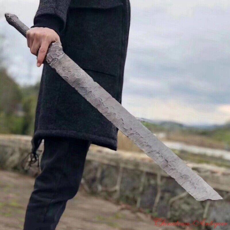 Seven Swordsmen Qinggan Sword Steel Blade Battle ready Cosplay Anime Sword #1794