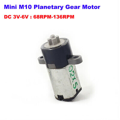 Mini 10mm Micro M10 Planetary Gear Motor Dc 3v 5v 6v 136rpm Slow Speed Diy Robot