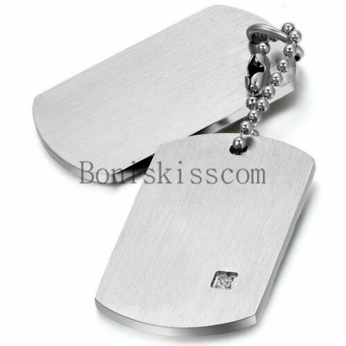 Stainless Steel Military Army  Dog Tags Men Pendant Necklace