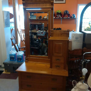 1890's Solid Wood Antique Dresser/Hutch **REDUCED**