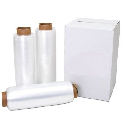 18 X 1500 80 Gauge 2 Rolls Pallet Wrap Stretch Film Hand Shrink Wrap 1500ft