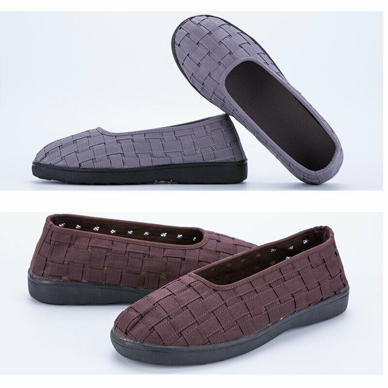 Mens Buddhist Monk Shoes Flats Comfortable Breathable Weave