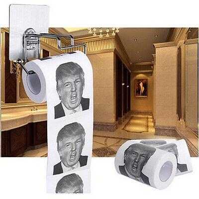 Donald Trump Toilettenpapier weich bedruckt Gag Geschenk Toilettenpapier Rollen