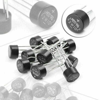 10pcs 2w 1000v 2a Bridge Diode Rectifier Electronic Components Diy Tools New