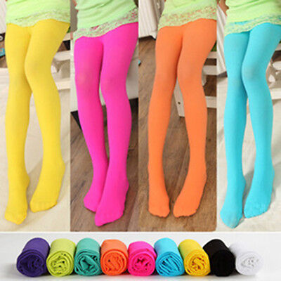 Cute Girls Kids BaBy Colorful Tights Pantyhose Stockings Velvet Ballet Socks RBN - Girls Colorful Tights