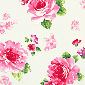 Cotton-Satin-100-Bed-Wall-Covering-Oriental-Rose-Red