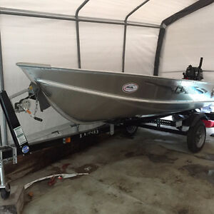 2016 12 ft. Lund aluminum boat and 5 hp Mercury outboard