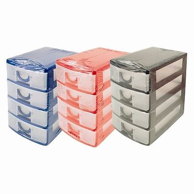 Handy Mini 4 Drawer Tower Storage Unit Office Desktop drawer Store UK SALE Mini Storage Unit