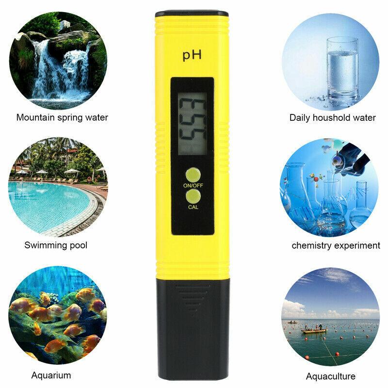 PH Level Test Pen Electrode Sensor Reader PH Meter for Pond Life Water Lab Use