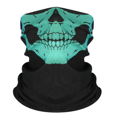 Green Ghost Skull Face Mask Biker Balaclava Costume Halloween Cosplay Masks - Green Face Mask Halloween