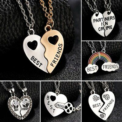 Best Friends BFF Letters Personalized Couple Necklace Pendant Women Jewelry Gift - Personalized Gift