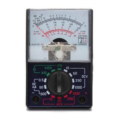 Dcac 1000v Analog Multimeter 250ma Ammeter Resistance Voltmeter Meter Portable