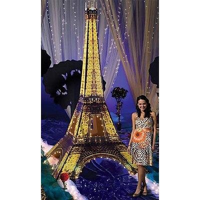 Eiffel Tower Cut Out (EIFFEL TOWER 3D Lighted CARDBOARD CUTOUT Standup Standee Poster 12 Feet Tall)