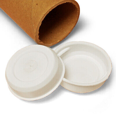 2 White Plastic End Caps For Shipping Mailing Tubes Pack Of 102050100