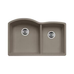 Blanco 401149 Diamond U 1.75 Double Undermount Kitchen Sink