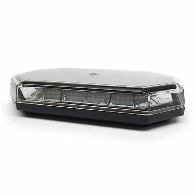 Permanent Mount Amber Mini Lightbar 10 Flash Patterns Replaces Buyers 8891060