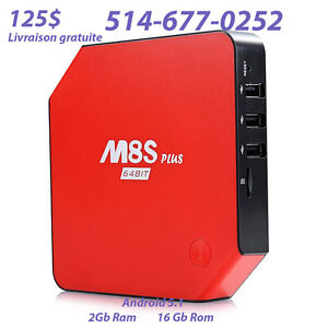 Nouveau M8S Plus ***Android Tv BOx****Android 5.1**16GB ROM**