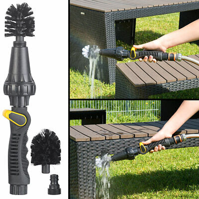 Rotierender Reinigungsbürsten-Aufsatz für Gartenschlauch, regulierbar
