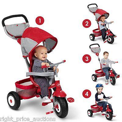 Radio Flyer Deluxe All Terrain Stroll 'n Trike Infant Toddler Kids Childs 4 in 1