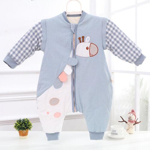 Baby Winter Schlafsack mit Beinen Kinder Strampler Schlafanzug Baumwolle
