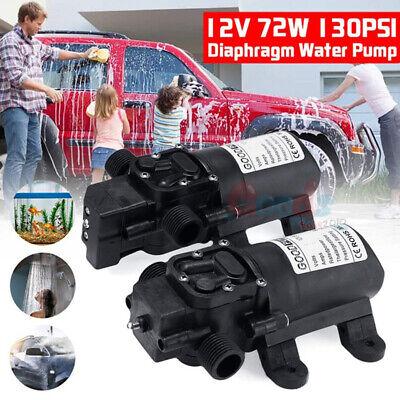 2pcs 12v 70w Home High Pressure Diaphragm Water Self Priming Pump 130 Psi 6lmin