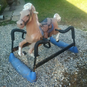 Plastic rocking horse by Hedstrom London Ontario image 1