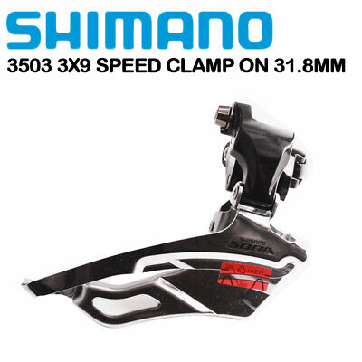NEW Shimano FD-R443 FRONT DERAILLEUR TIAGRA 31,8 mm CLAMP Bottom Pull BLACK