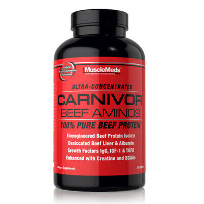 MuscleMeds Carnivor Ultra-Concentrated 100% Pure Beef Aminos, 300 Tablets
