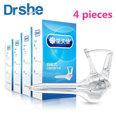 4pcs Plastic Disposable Vaginal Speculum Anal Medical Silicone Specula Vigina S