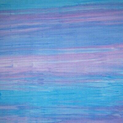 Oasis Batik Fabric - Light Blue & Purple Stripe - Cotton YARD Oasis Blue Stripe